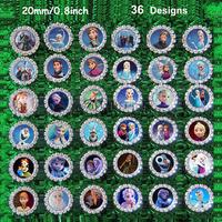 "2014 NEW 100pcs/lot 0.8""  Frozen Move Princess 36styles rhinestone button scrapbooking embellishment headband DIY accessories"