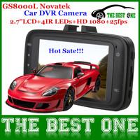 "Hot Sale GS8000L Novatek Car DVR Recorder Camera 2.7"" LCD HD Motion Detaction Car Video Camera DVR Dash Cam Recorder GPS Track"