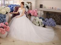 Fashionable New Sexy Tube Top Wedding dress 2014 Bow Big Tailing Mermaid Wedding dresses White vestido de noiva Bridal Gown W82