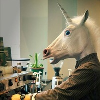Halloween mask, latex masks, unicorn party mask. The horsehead mask, the Gangnam  Style ten thousand people riding dance