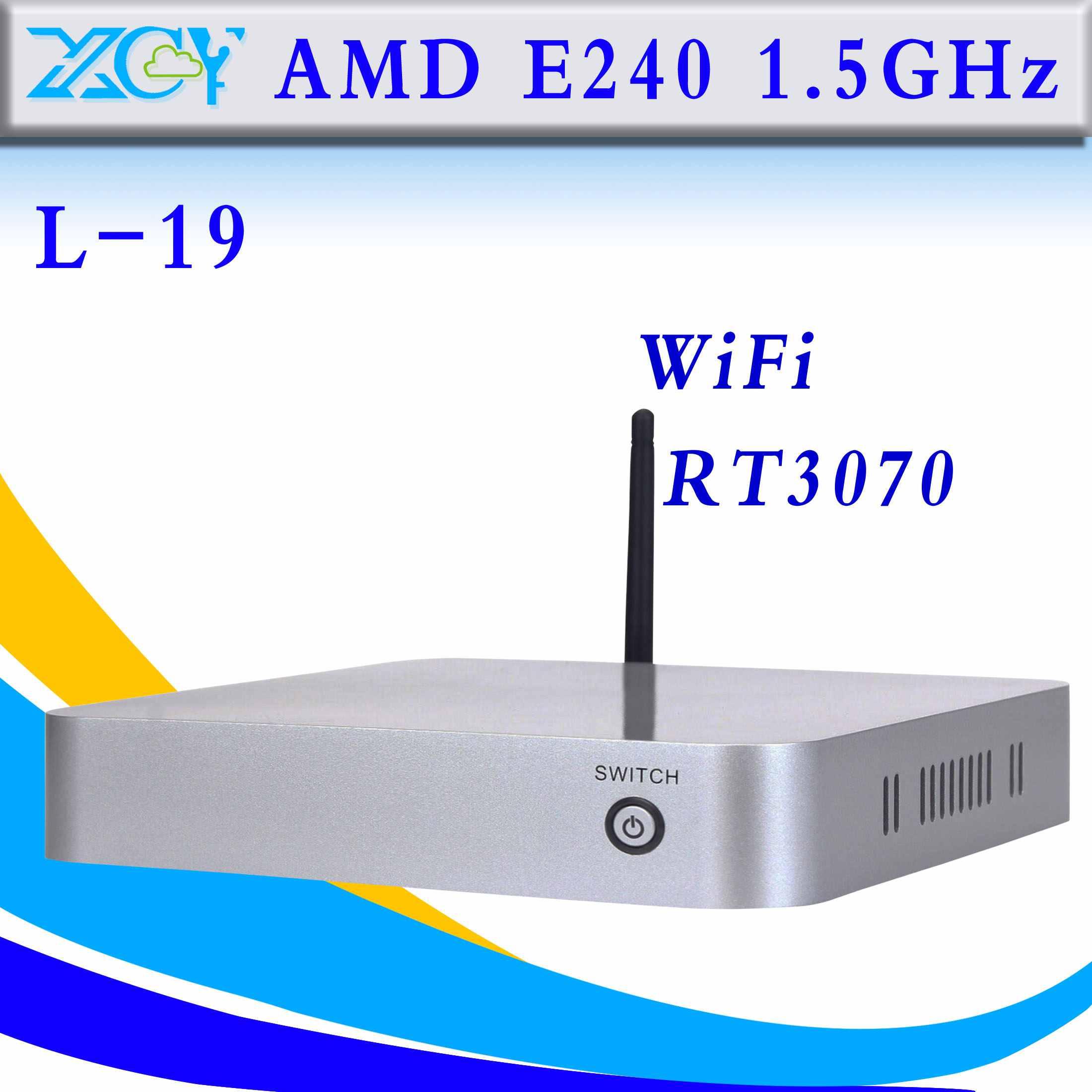highend thin client XCY L-19 AMD E240 Mini PC with wifi 4*USB2.0,1*HDMI 1.3,1*VAG,1*DC-IN jack, 1*RJ 45Lan port(China (Mainland))