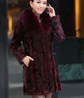 Free shipping 2014 winter new women's coat imitate fox fur collar mink fur coat  lady long fur coat girl clothes faux fur coat