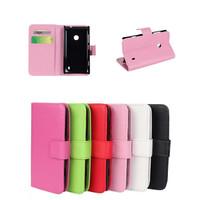 Hot 2014  For nokia lumia 520 case Quality PU Wallet Flip Stand  Nokia phone cases NOKIA Lumia 520 cell phone cover  Free stylus