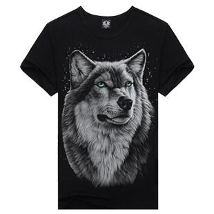 New 2015 hot men summer 3D t shirt,street fashion casual o neck 3d t-shirts,thailand design 3d t shirts wolf Europe Size,M-XXXL(China (Mainland))