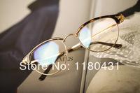 2014 New fashion Luxury metal Thin frame women men glasses plain glasses myopia frame glasses oculos Gafas de sol high quality