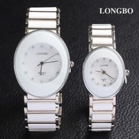 Lovers wristwatch free shipping watches women fashion luxury watch oval ceramics quartz analog hardlex waterproof clock dropship