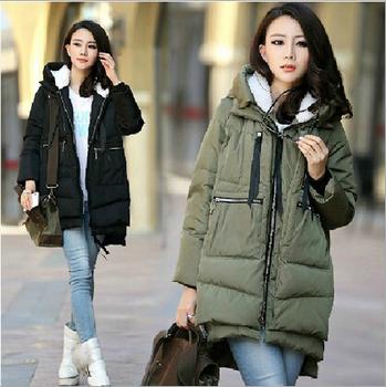 Maternity Winter Coat! 2014 ! Сплошной Thicken Cloths For Pregnant Женщины Модный ...
