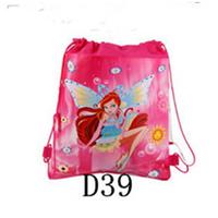 1 piece Children Drawstring Bag lovely elf Children School Bag Kids Printing Cartoon Shoulder Bag For Kids Gift