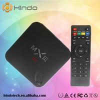 Cheap set -top box MXIII MX Android 4.4 Mali450 1G/8G DLNA Quad Core 4K Smart TV box Amlogic S802