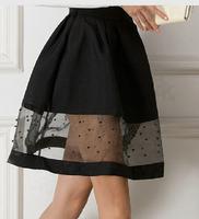 2014 new fashion women autumn and winter plus size chiffon A line skirts