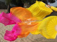 Real Silk Fan Veil For Belly Dance China Silk Veil Fan Veil Color
