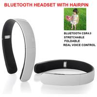 2014 Electric New Chinalae Brand Wireless Bluetooth CSR4.0 Stereo Headphones Hairpin Headset White