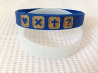 1000pcs/lot custom debossed logo glitter powder filled in silicon wristbands,promotion cheap gift customized bracelet