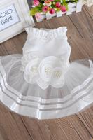 White wedding dress with lotus