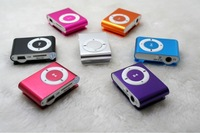 2014 New Hot Sale 8 colors MINI Clip MP3 Player sport music mp3 With Micro TF/SD Card Slot With Mini MP3 free shipping