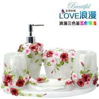 Fashion five pieces bathroom set bath set kit bathroom supplies toiletries set
