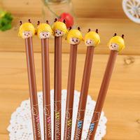 15pcs/lot Creative Korea Stationery Cute Cartoon Gel Ink Pen School Study Black Ink 0.38mm Pens Wholesale