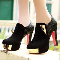 2014 new hot Women Shoes  fashion women's 10cm Waterproof Taiwan DUNHU D9711