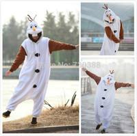 Anime Cosplay Frozen Olaf Snowman Cosplay Kids Children Boy Girl Unisex Pajama Onesie Party Halloween Costumes Dresses Jumpsuits