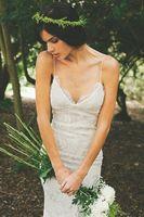Backless White / Ivory Lace Bridal Gown Wedding Dress Custom Size 6 8 10 12 14