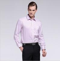 New 2014 White Shirt men Work Wear Long-Sleeve Slim men's Tops Blouses & Shirts HNHD3K075