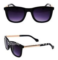 2014 New fashion vintage Big square glasses  Metal legs sunglasses Luxury women men square sun glasses gafas oculos de sol