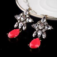 Min $10 - Pendientes Jewelry  vintageCrystal Rhinestone Irregular Geometric Drop earrings Fashion New 2014 Brincos For Women