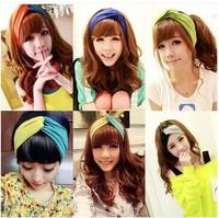 Free Shipping Fashion New 2014 Twist Sport Yoga Headband Bandana hijab Turban Headscarf Wrap For Women Hair Accessories