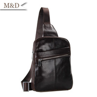 Vintage Genuine Leather Messenger Bags Full-grain Leather Cross Body Bags Waist Bags 2014 Hot Sale Chest Bags