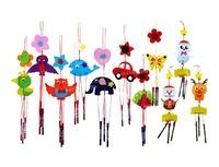 Free shipping Education Kids DIY Craft Kit Nonwoven Windbell /Wind Chime - 50sets/lot LA0203