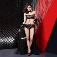 2014 new hot Stylish atmosphere gauze DJ performance clothing singer costumes jazz dancer costumes
