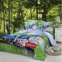 3D bedding sets kids 100% pure cotton comforter set train print duvet/bed cover bedsheet roupa de cama home textile pillowcases