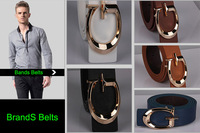 Famous Brands Leather Belts Men's Fashion with Metal Buckle 2014 New Designer Belts for Women jeans , Casual Men Belts Brands