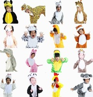Children Animal The frog Wolf tiger pig cow Duck rabbit Cos Pajamas Unisex Kids Oneise Winter Fleece Halloween Costume