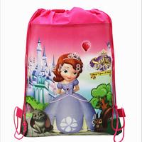 1 pc Princess Sofia Children School Bag Kids Printing Cartoon Backpack Drawstring Bag   For Kids Shopping Bag