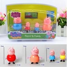 plástico pepa peppa pig brinquedos bonecas george pai múmia porco peppa pig família conjunto produto novo venda quente(China (Mainland))