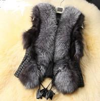 Free shipping wholesale women short paragraph design simulation Fur Vest