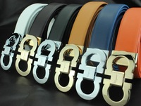 Leather belts men's belt women's belt designer belt gold buckle silver buckle high quality free shipping