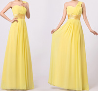 one shoulder chiffon long design married the bride formal dress