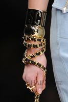 Wholesale mos brand designer punk gold metal letter logo women bracelets
