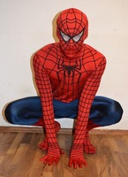Free shopping 2014 NEW adult spider-man costume Super hero costumes men and women spiderman clothes