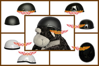 New 2014 FRP Vintage half helmets Retro Open face style for Harley motorcycle