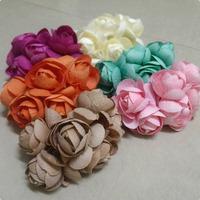 2014 NEW 4.5-5cm (36pcs/lot) MIX COLOUR Mulberry Flower Bouquet/wire stem/ Scrapbooking artificial cloth rose flowers