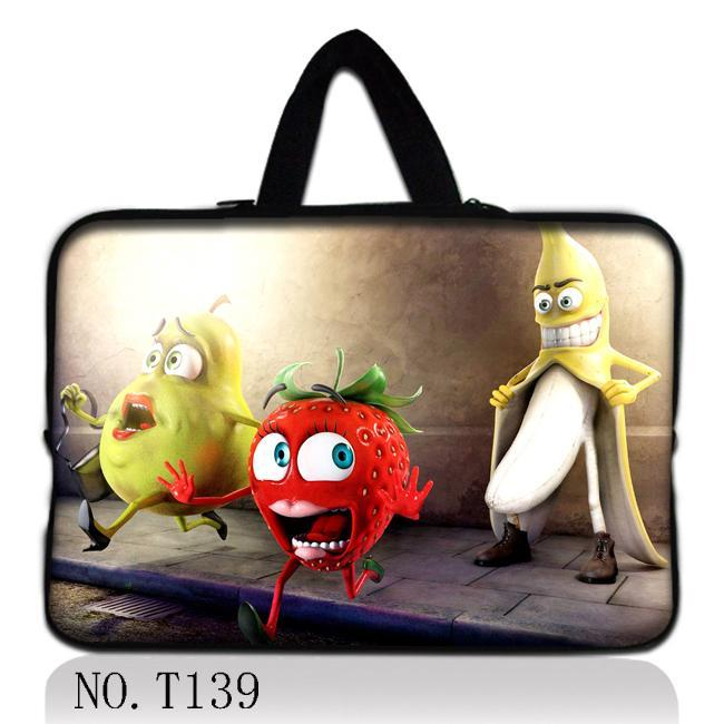 """Cartoon Fruit 15"""" 15.6"""" 14"""" 13.3"""" 11.6"""" 10.1"""" 9.7"""" Laptop Sleeve Case Bag+ Hide Handle For Acer HP Dell Samsung Asus Apple(China (Mainland))"""