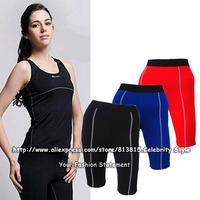 SH66 Ladies Women Body Compression Under Base Layer Gym Clothes Running Legging Capri Yoga Casual Sports Shorts Skins Sportswear