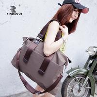 Female big measurement women's handbag waterproof bag nylon bag solid color simple paragraph shoulder bag messenger bag