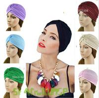 Unisex India caps women Turban Hat Skullies Beanies girls' knitted caps men Hearing protectors Hats Shower Cap Drop Shipping