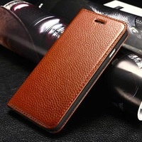 New arrival Genuine Cow Leather Case Cover Shell For iphone 6 leather case Free Shipping wholesale
