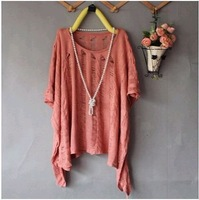 HOT SALE New Womens Batwing Sleeve Casual Loose Hollow Asymmetric Knit Cardigan Tops WF-183