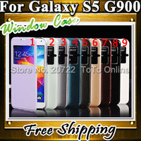 New Cheap Flip Cover For Samsung i9600 PU Leather Cases For Samsung S5 G900